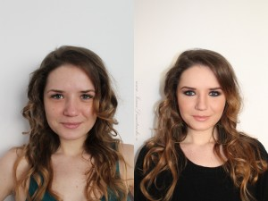Smoky eyes before after