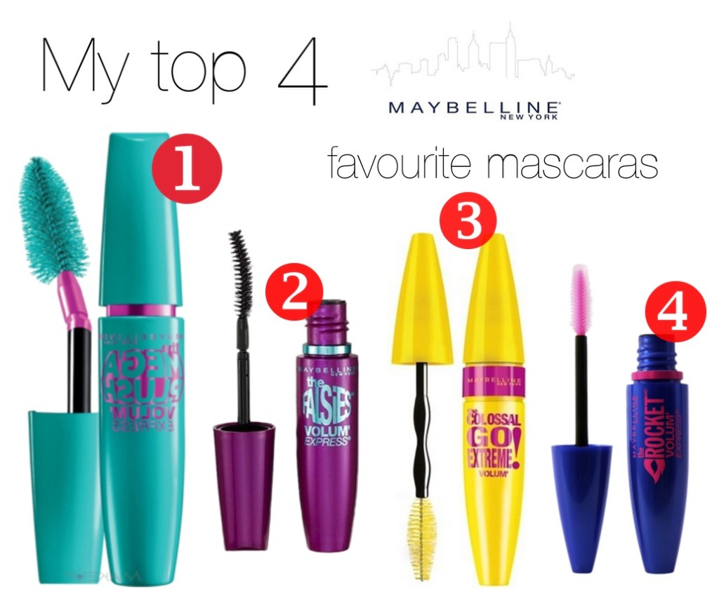 My top 4 Maybelline favourite mascaras