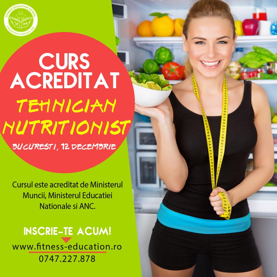 curs acreditat de Tehnician Nutritionist