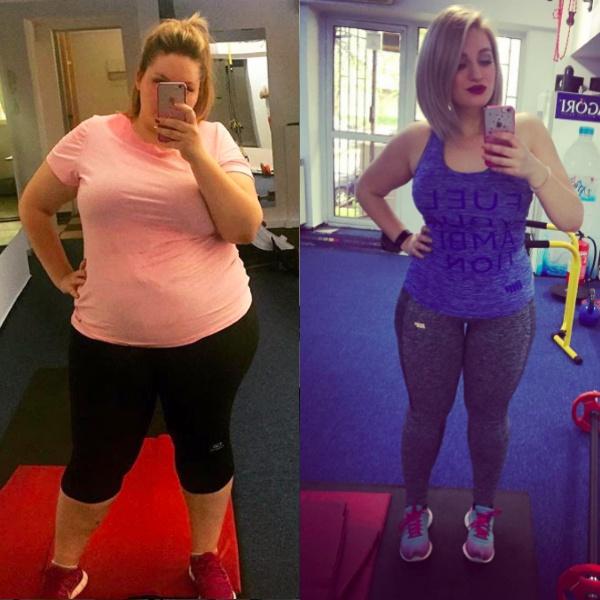 A slăbit aproape 150 de kilograme într-un an.