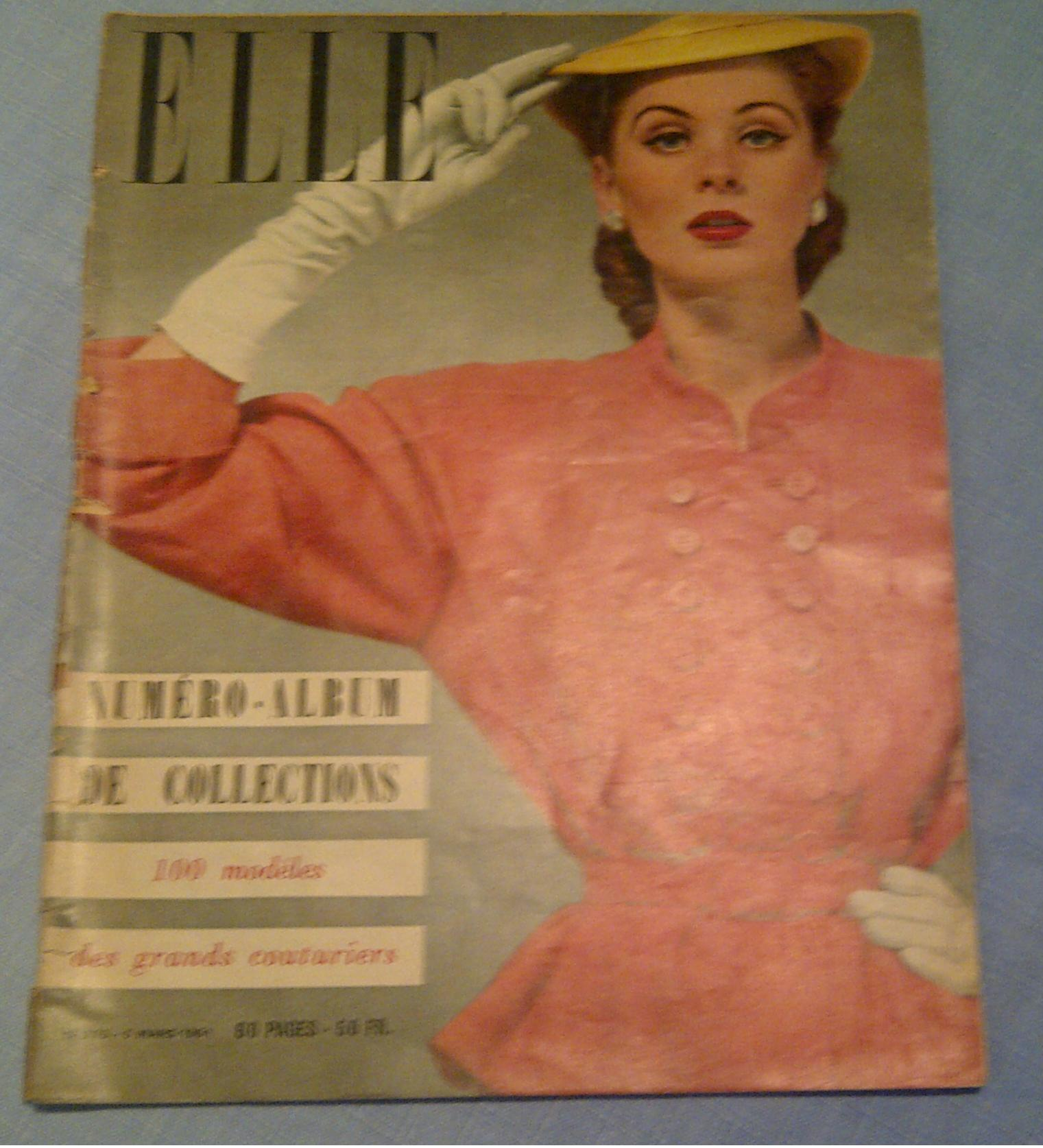 Cum arãta revista ELLE în 1951