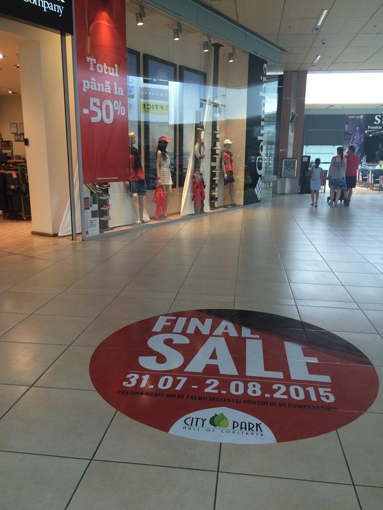 Nu rata în acest weekend FINAL SALES la City Park Mall cu reduceri de până la 90%!