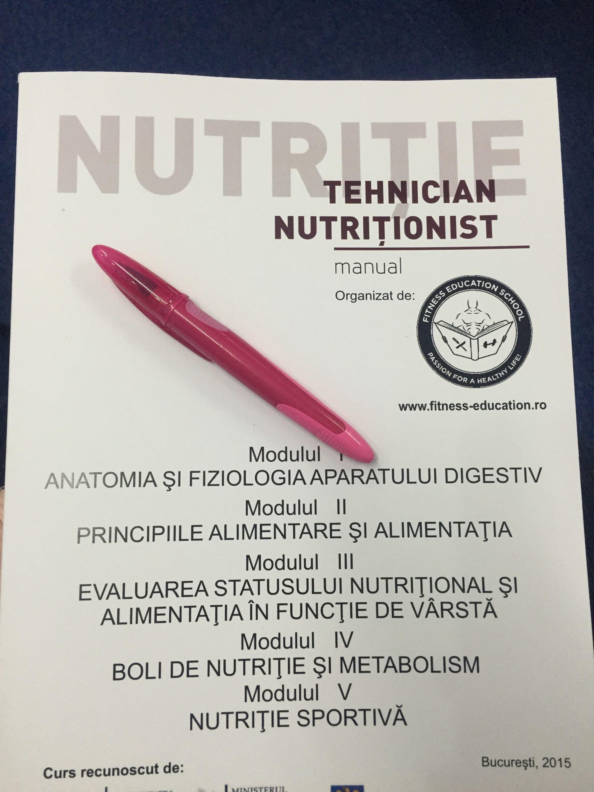 Impresii după primele două cursuri de Tehnician Nutriţionist