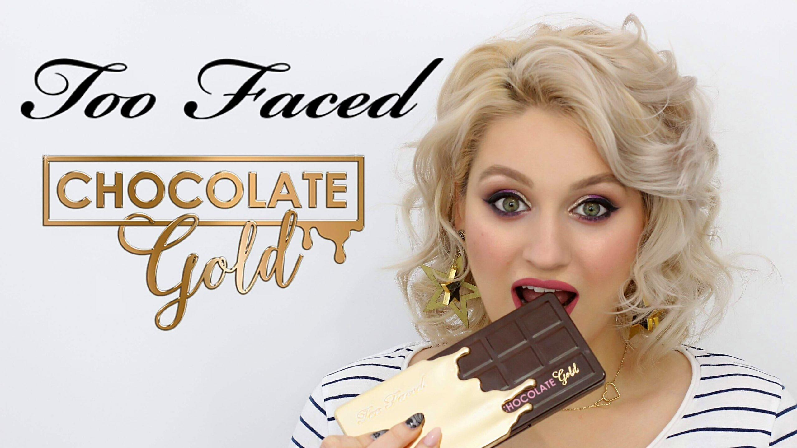 [VIDEO] Tutorial de machiaj cu paleta Too Faced Chocolate Gold