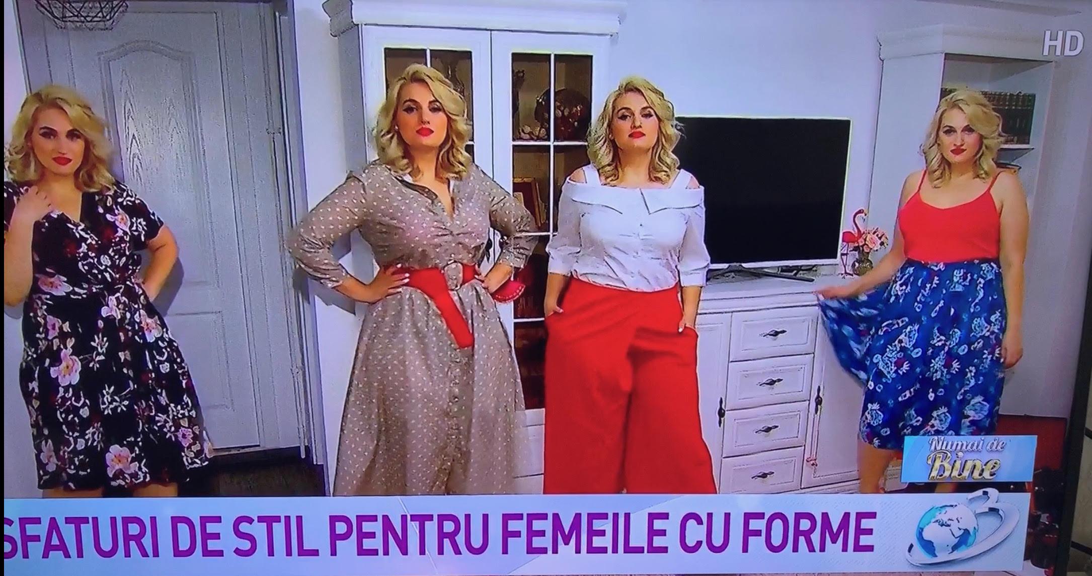 Trucuri de stil pentru femeile cu forme la emisiunea Numai de bine de la Antena 3